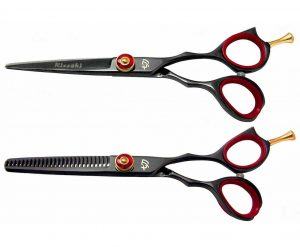 Sensuki 5.5″ & Daisaku 26t Hair Scissors Black R Titanium