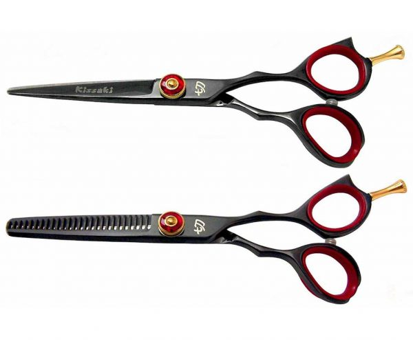 Sensuki 5.5″ & Daisaku 26t Hair Scissors Black R Titanium