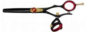 Kanagawa 30 tooth Double Swivel Thinning Shears Black R Titanium