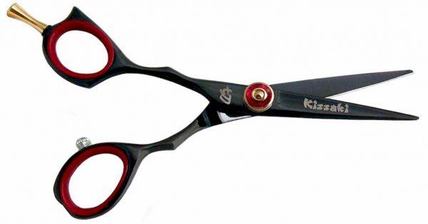 Sensuki L 5.0″ Left Handed Hair Scissors Black R Titanium