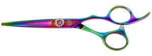 Niki-Dori 5.5″ Hair Scissors Rainbow Titanium