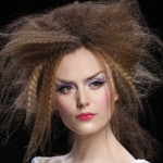 crimped hair style