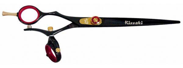 Gokatana L 7.0″ Left Handed Hair Scissors Double Swivel Black R Titanium