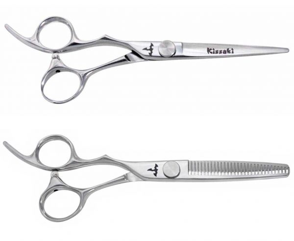 Kissaki KT Series 19L 6.0″ & 18L-30 tooth Left Handed Hair Shears Set