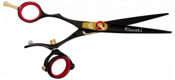 Gokatana L 6.0″ Left Handed Hair Shears Double Swivel Black R Titanium