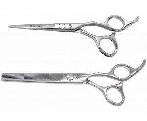 Futasuji 5.5″ Hair Scissors & Ishizuki 60t Thinning Shears
