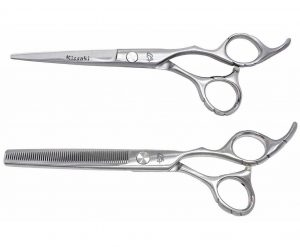 Futasuji 6.0″ Hair Scissors & Ishizuki 60t Thinning Shears