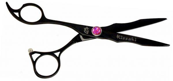 Haniku L 6.0″ Left Handed Hair Scissors Black Titanium