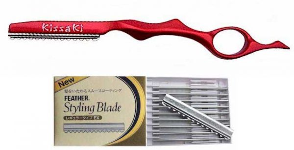 Ruby Red Hair Razor and Box of Feather Blades