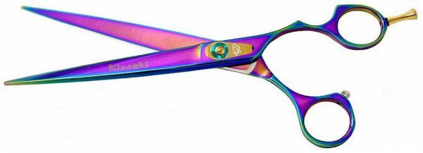 Kareru 8.0″ Dog Grooming Scissors Rainbow Titanium