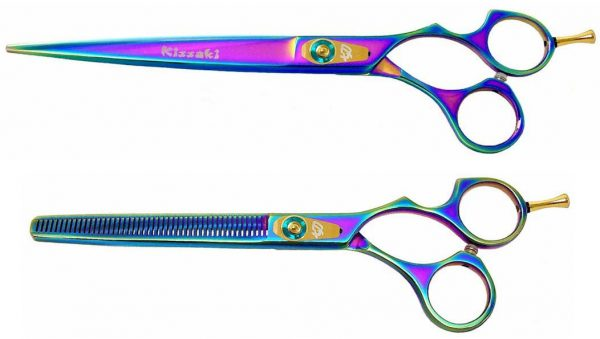 Kareru 8.0″ & Nagasa 48 tooth Dog Shears Set Rainbow