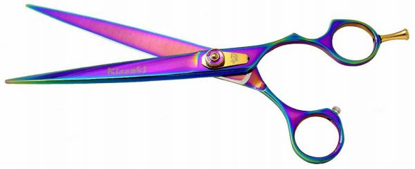 Kareru 8.0″ Dog Grooming Scissors Rainbow Titanium