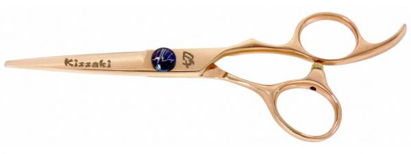 Nijyuu 5.5″ Rose Gold Hair Scissors VG-10 Super Steel Cobalt