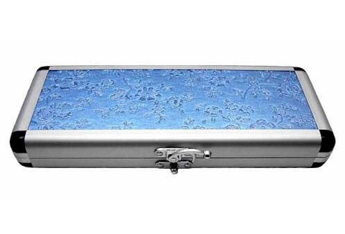 Blue Flower Multi Hair Shears & Hair Razor Case