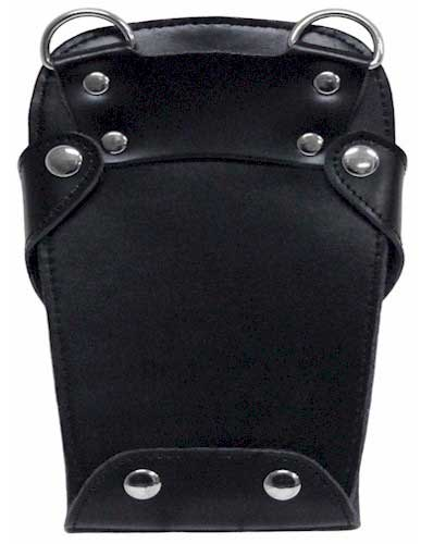 Black Genuine Leather Hair Scissors Holster Pouch