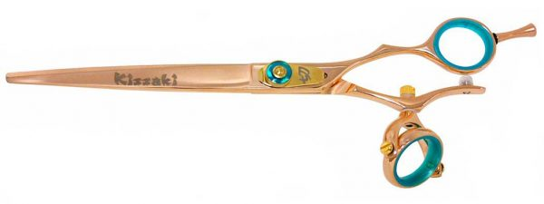 Gokatana 7.0″ Hair Scissors Double Swivel Rose Gold B Titanium