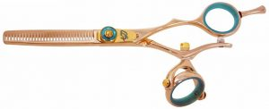 Kanagawa 30 tooth Double Swivel Thinning Shears Rose Gold B Titanium