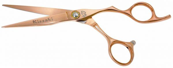 Saki-Zori 6.0″ Hair Scissors Rose Gold Titanium Hair Cutting Shears