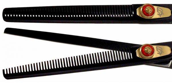 Nagasa 48 tooth Black R Titanium Hair Thinning Shears
