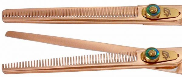 Nagasa 48 tooth Rose Gold B Titanium Hair Thinning Shears