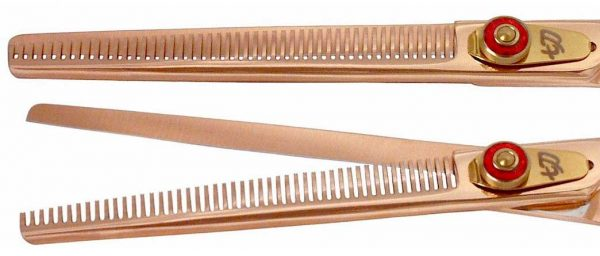 Nagasa 48 tooth Rose Gold R Titanium Hair Thinning Shears