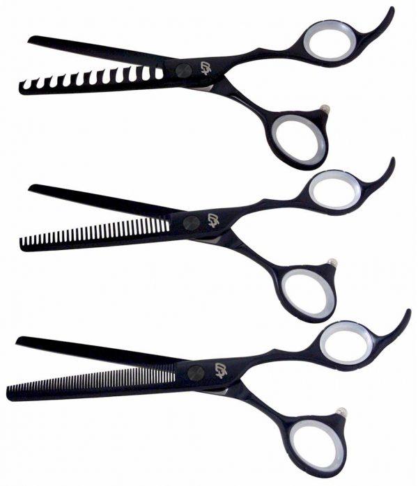 Ishizuki 11 tooth 32 tooth & 60 tooth Black Satin 3 Thinning Shears Combo