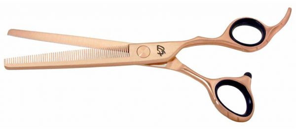 Ishizuki 60 tooth Thinning Shears Rose Gold Satin Finish Blender