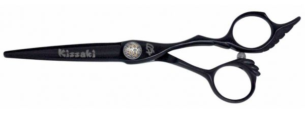 Jizo 6.0″ Hair Scissors Black Titanium Hair Cutting Shears