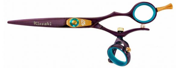 Gokatana 5.5″ Hair Scissors Double Swivel Black Cherry B Titanium