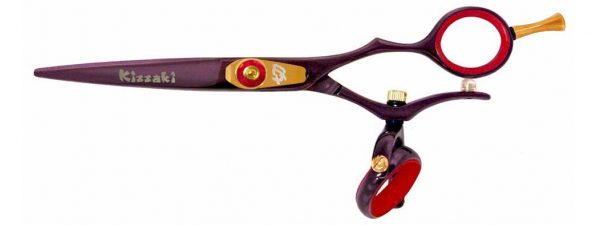 Gokatana 5.5″ Hair Scissors Double Swivel Black Cherry R Titanium