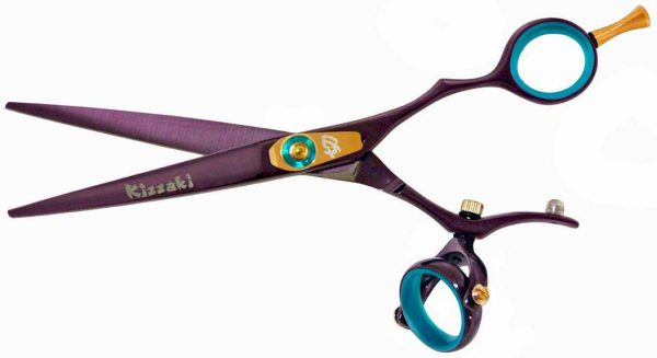 Gokatana 6.0″ Hair Scissors Double Swivel Black Cherry B Titanium