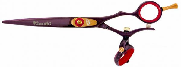 Gokatana 6.0″ Hair Scissors Double Swivel Black Cherry R Titanium