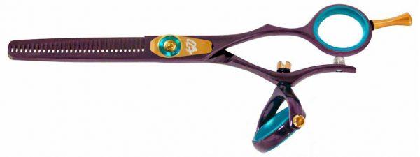 Kanagawa 30 tooth Double Swivel Thinning Shears Black Cherry B Titanium