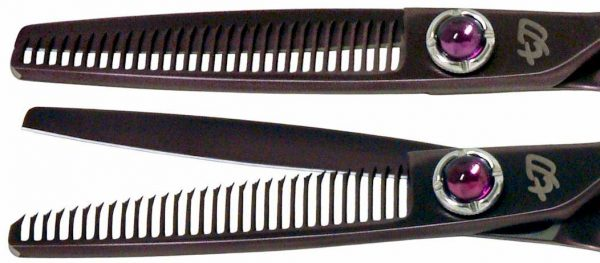 Byobu 30 tooth Black Cherry Titanium Hair Thinning Shears