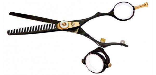 Kanagawa 30 tooth Double Swivel Thinning Shears Black W Titanium