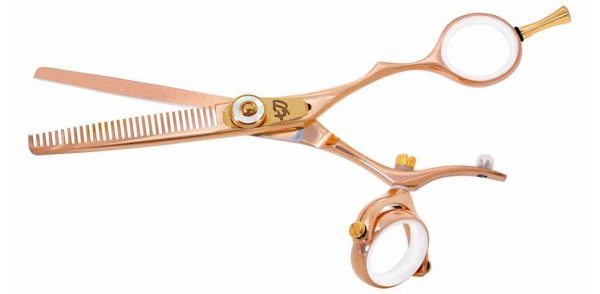 Kanagawa 30 tooth Double Swivel Thinning Shears Rose Gold W Titanium