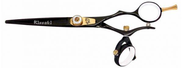 Gokatana 6.0″ Hair Scissors Double Swivel Black W Titanium