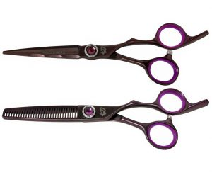 Ryu-Jin 6.0″ & Byobu 30 tooth Black Cherry Hair Scissors Thinning Shears Combo