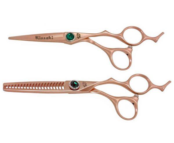 Bohi 5.5″ & Orichi 20 tooth Rose Gold Hair Scissors Thinning Shears Combo