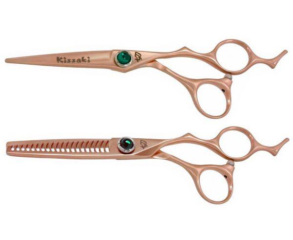 Bohi 6.0″ & Orichi 20 tooth Rose Gold Hair Scissors Thinning Shears Combo