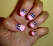 happy birthday nail art ideas