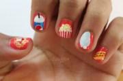 food nail art kiss and