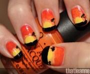 summer nail art kiss and