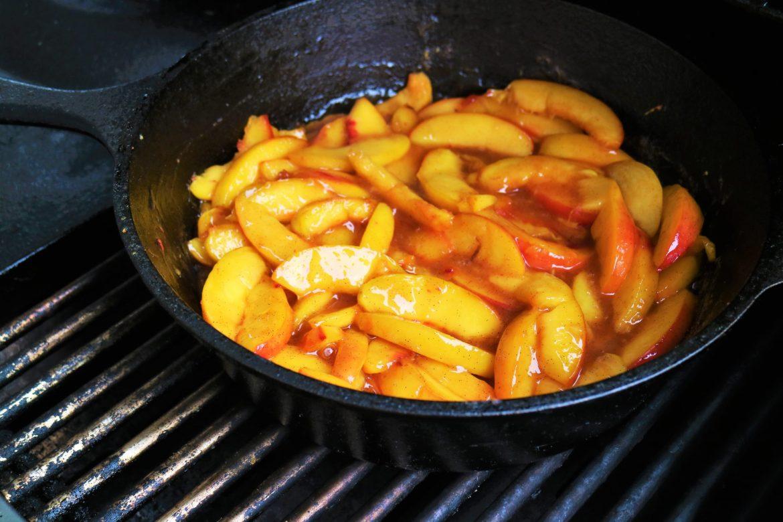 Pfirsiche für den Pfirsich Cobbler