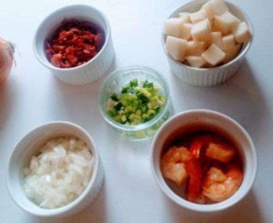 Creamy Potato Bacon & shrimp Soup