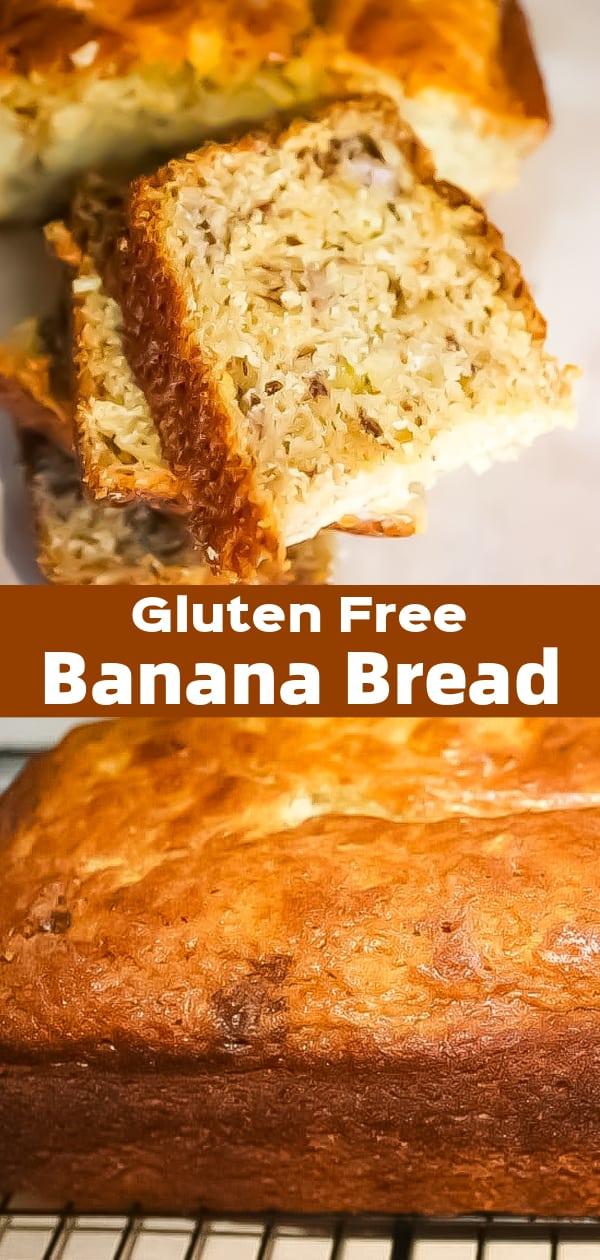 Gluten Free Banana Bread is an easy banana bread recipe using almond milk and Bob's Red Mill all purpose gluten free flour.