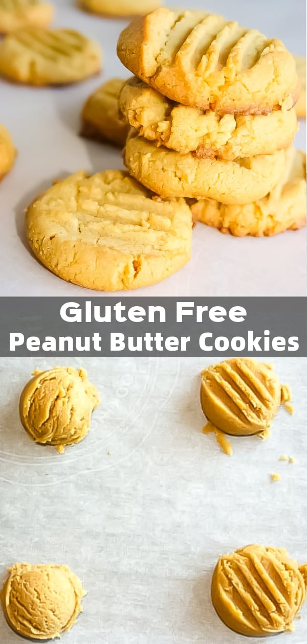 Peanut Butter Cookies are a classic that I really missed when I had to start eating gluten free. This gluten free version really hits the spot and satisfies that peanut butter cookie craving!