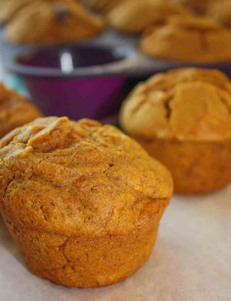 These Pumpkin Spice Muffins are full of the flavours of fall.  They can be enjoyed any time during the day as the finishing touch to a meal or as a nice snack to accompany a hot cup of coffee or tea.