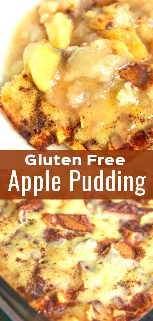 Gluten Free Apple Pudding is a delicious fall dessert recipe. This moist apple cake is loaded with cinnamon.