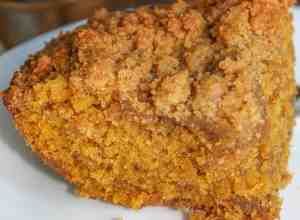 At this time of year I can never get tired of the warmth and coziness that is associated with pumpkin spices. This Pumpkin Streusel Coffee Cake provides another opportunity to enjoy these fall spices.
